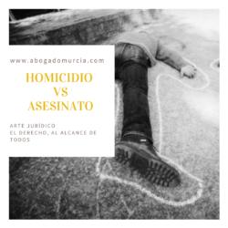 Asesinato y homicidio. Abogados Derecho Penal en Murcia
