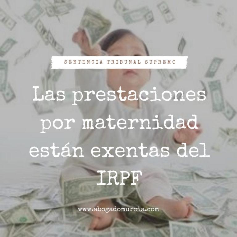 Prestación por maternidad. IRPF