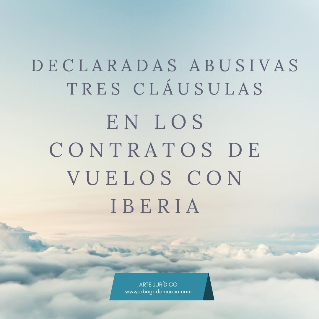 Cláusulas abusivas vuelos Iberia. Abogados de consumo.