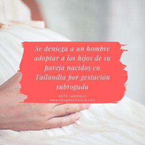 Denegación adopción. Gestación subrogada.