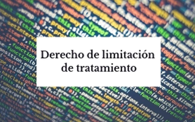 derecho limitación tratamiento