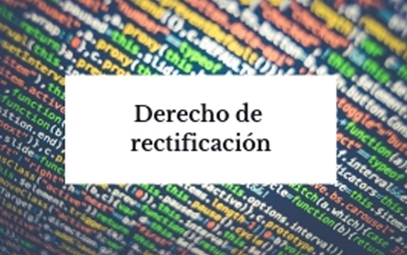 derecho rectificación datos