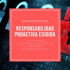 Responsabilidad proactiva. Protección de datos