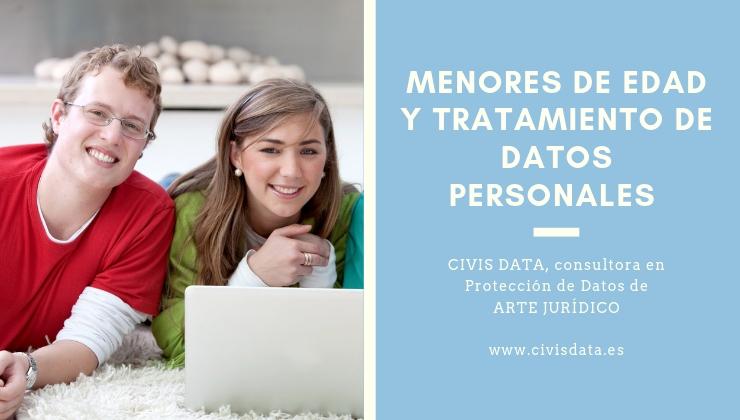 Menor de edad. Protección de Datos.