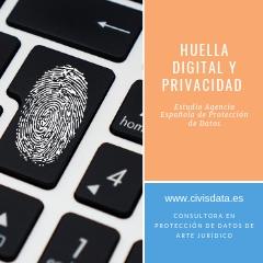 PROTECCIÓN DE DATOS. Huella Digital.
