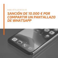 Sanción por difusión whatsapp