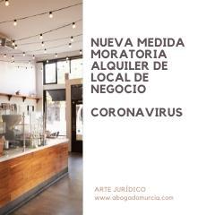 MORATORIA alquiler de local. Coronavirus.