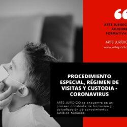 Régimen visitas, custodia y coronavirus